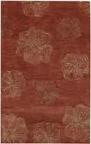 Capel Area Rug, Graphique 3393-500 Hibiscus Henna 5' x 8'