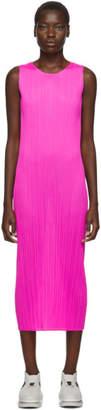 Pleats Please Issey Miyake Pink New Colorful Basics 2 Tank Dress