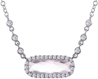 Meira T 14K 1.02 Ct. Tw. Diamond & White Topaz Necklace