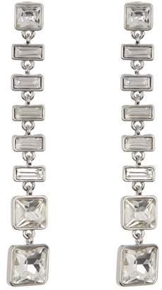 Vince Camuto Square & Rectangle Crystal Linear Drop Earrings