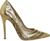 Office Nancy laser-cut leather courts