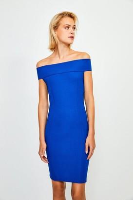 Karen Millen Ponte Bardot Zip Back Dress