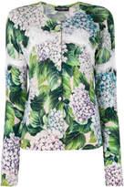 Dolce & Gabbana hydrangea print cardigan