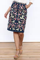 Needle & Thread Wildflower Denim Skirt