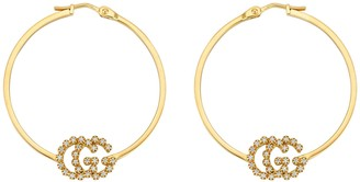 Gucci GG Running earrings with diamonds, small