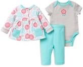 Offspring Infant Girls' Garden Jacket, Bodysuit & Pants Set - Sizes 3-12 Months