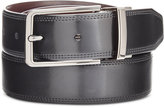 Perry Ellis Men's Big and Tall Silver Lines Reversible Leather Belt