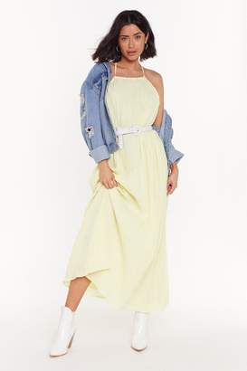 Nasty Gal Nothing Holdin' Me Back Strappy Maxi Dress