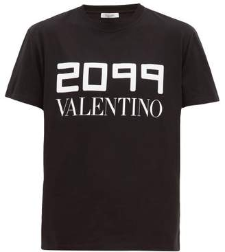Valentino 2099 Logo-print Cotton T-shirt - Mens - Black