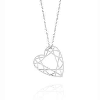 Myia Bonner Silver Heart Diamond Necklace