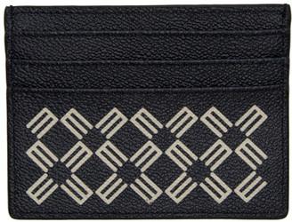 Etro Navy Logo Pattern Card Holder