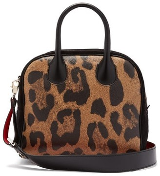 Christian Louboutin Marie Jane Leopard-print Leather And Suede Bag - Leopard