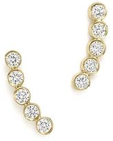 Chicco Zoe 14K Gold & Bezel Set Diamond Stud Earrings