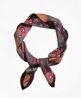Brooks Brothers Silk-Twill Foulard Square Scarf
