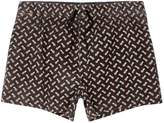 River Island Mens Black acid wash pineapple short swim shorts