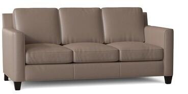 "Thumbnail for your product : Bradington-Young Yorba 76"" Genuine Leather Flared Arm Sofa Body Fabric: Alpine Mushroom, Leg Color: Stone"