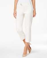 Charter Club Petite Extended-Tab Capri Pants, Created for Macy's