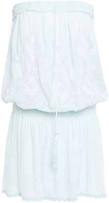 Melissa Odabash Fruley Strapless Broderie Anglaise Voile Mini Dress