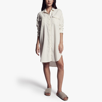 James Perse Cotton Military Shirt Dress