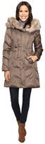 Via Spiga Faux Fur Trimmed Hood Winter Coat