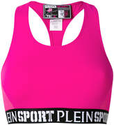 Plein Sport logo band sports bra