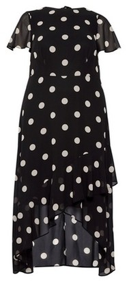 Dorothy Perkins Womens Dp Curve Monochrome Spot Print Maxi Dress