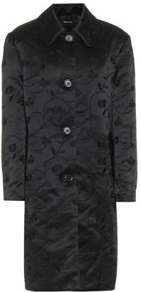 Simone Rocha Floral-embroidered satin coat