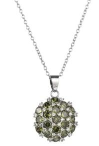 A&M A & M Silver-Tone Olive Flower Cluster Pendant Necklace
