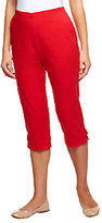 """Denim & Co. How Timeless"""" Stretch Twill Capris with Side Tabs"""
