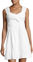 Nanette Lepore Front-Twist Knit Dress, White