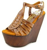 Sbicca Edmonds Women Open Toe Leather Wedge Sandal.