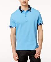 Versace Men's Printed-Collar Polo