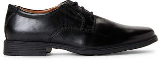 Clarks Black Tilden Leather Derby Shoes