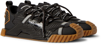 Dolce & Gabbana Ns1 Mesh, Rubber And Leather Sneakers