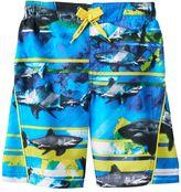 ZeroXposur Boys 4-7 Abstract Sharks Swim Trunks