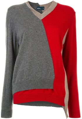 Kolor Colour-Block Asymmetric Jumper