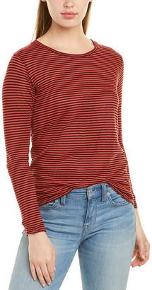 Isabel Marant Etoile Kaaron Striped Linen-Cotton T-Shirt