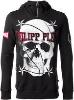 Philipp Plein skull print hoodie - men - Cotton - M