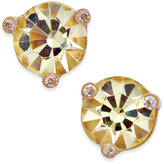 Kate Spade Rise and Shine Gold-Tone Crystal Stud Earrings