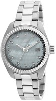 Invicta Women's 20351 Specialty Quartz 3 Hand White Dial Link Watch - White