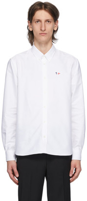 MAISON KITSUNÉ White Tricolor Fox Oxford Shirt