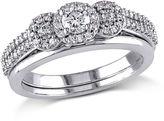 MODERN BRIDE 1/2 CT. T.W. White Diamond 10K Gold Bridal Set