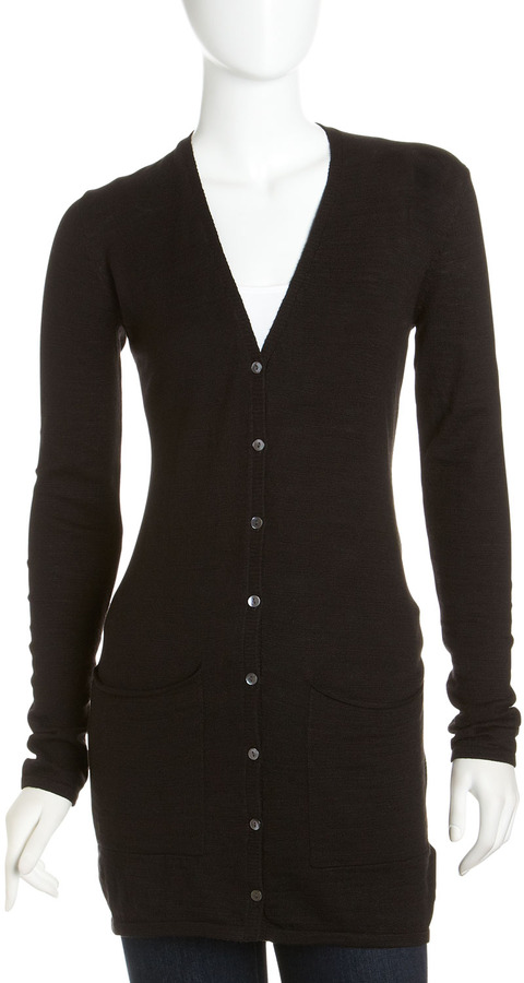 Isda & Co Long Knit Cardigan, Black