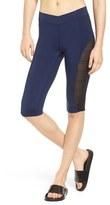 Ivy Park Women's Linear Mesh V-Waist Capri Leggings