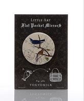 Tokyomilk - Stamped Blue Birds Flat Pocket Mirror - 1 ea