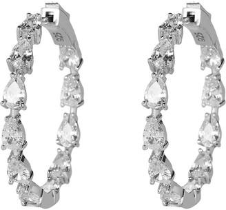 Nickho Rey Gil Crystal Stone Hoop Earrings