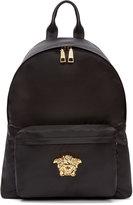 Versace Black & Gold Nylon Medusa Backpack
