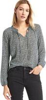 Gap Geo print smock blouse