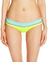 Maaji Women's Birdlime Canvas Lime Cubism Signature Cut Reversible Bikini Bottom