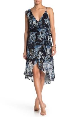 Printed Ruffle High/Low Hem Dress